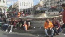 G.Saray taraftarı Madrid'e akın etti!