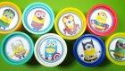 Minyonlar Süper Kahramanlar Play-Doh Oyun Hamuru Kutuları Sürpriz Yumurtaları | Örümcek Adam