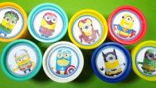 Minyonlar Süper Kahramanlar Play-Doh Oyun Hamuru Kutuları Sürpriz Yumurtaları   Örümcek Adam