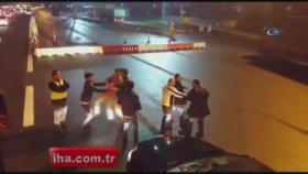 Saldırdığı Otobüs Şoföründen Dayak Yiyince Rahatla