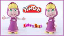 Maşa ve Ayı Çizgi Filminden Maşanın Play-Doh Oyun Haumur İle Yapılışı