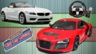 Logitech G27 ile City Car Driving / Audi R8 vs BMW Z4