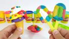 Oyun Hamurundan Dondurma Yapımı | Kornet ve Magnum Şeklinde Renkli Dondurmalar