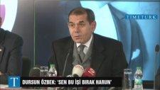 Dursun Özbek'ten Çok Sert Açıklama