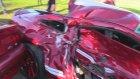 Kaliteli Araç Shelby GT500 Aracının Kapısının Kaza'da Kapısının İçe Çökmesi