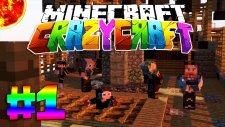 Minecraft - Crazy Craft - Modlarla Survival! - HAYDUTLAR TARAFINDAN YAKALANDIM! - Bölüm 1