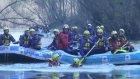 Kar yağışı, raftingcileri sevindirdi