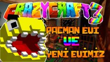 Minecraft Crazy Craft - EFSANEVİ PACMAN EVİ! ve KORKUNÇ MALİKANEMİZ! : Bölüm 2