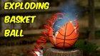Ağır Çekimde Basketbol Topunun Fazla Hava Basımından Patlama Anı