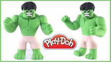 Play-Doh HULK - Oyun Hamuru İle Yeşil Dev Hulk Nasıl Yapılır?