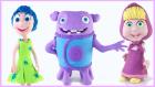 Play-Doh Oyun Hamurundan Maşa ve Ayı, Ters Yüz Neşe ve Dreamworks Ev Filmi Karakteri Yapımı
