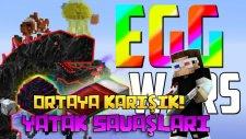 MOBZİLLA GİBİ SAVAŞTIK!   Türkçe Minecraft Yumurta Savaşları! & Minecraft Yatak Savaşları!