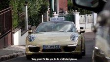 Porsche 911 Carrera 4 ile Direksiyon Sınavına Çıkan Sürücü Adayları