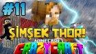 Şimşek Thor! (KARANLIK DÜNYA) - Türkçe Minecraft Crazy Craft : Bölüm 11
