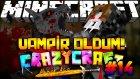 Vampir Oldum! (KAN EMDİM!) - Türkçe Minecraft Crazy Craft : Bölüm 14