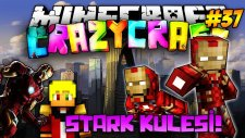 Ürkütücü STARK KULESİ! (Iron Man)   Türkçe Minecraft Crazy Craft   Bölüm 37
