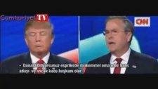 İki Başkan Adayı Trump ve Bush'un Canlı Yayında Atışması
