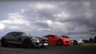Audi R8 Drag Yarışında iki Mercedes AMG'ye Karşı