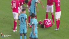 Barcelona maçında korkunç sakatlık!