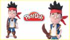 jake ve varolmayan ülkenin korsanları Play Doh | Oyun hamurundan jake karakteri yapmak