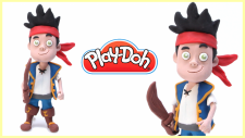 jake ve varolmayan ülkenin korsanları Play Doh   Oyun hamurundan jake karakteri yapmak