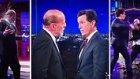 Stephen Colbert ve Bruce Willis'den Eğlenceli Dövüş Sahnesi