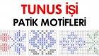 Tunus İşi Patik Motifleri ve Yapılışı