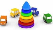 Çizgi Film - Vinç kamyonu piramit yapıyor.