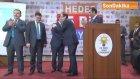 AK Parti'ye Geçen Belde Belediye Başkanlarına Rozet Takıldı