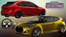 Hyundai Veloster T vs Ford Focus ST/ Logitech G27 ile CCD