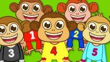 Beş Küçük Maymun   Five Little Monkeys Türkçe   Sevimli Dostlar   Adisebaba TV