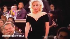Lady Gaga Leonardo Di Caprio'nun Sandalyesini İtti
