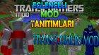 Minecraft : Eğlenceli Mod Tanıtımı : TRANSFORMERS MODU : Tanka,Arabaya ve Uçağa Dönüşme