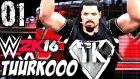 WWE 2K16 Kariyer Türkçe | BIR EFSANE DOGDU | 1.Bölüm | Ps 4