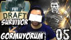 Fifa 16 FUT Draft SURVIVOR | 15 dk. GÖZÜM Kapali | 5.Bölüm | Türkçe oynanış | Ps4