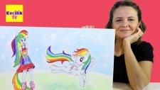 Dev Sürpriz Oyuncak Kutusu 10 : Rainbow Dash Barbie My Little Pony Play Doh - EvcilikTV
