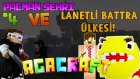 Pacman Şehri! Ve Lanetli Battra Ülkesi! - Minecraft Korkunç Modlarla Survival - 4.Bölüm / Ahmetaga