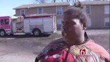 Canlı Yayında Yangını Anlatan Kadından Komik Röportaj! ( Woman Gives Funny Interview After A Fire! )