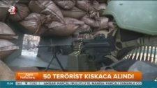Teröristler tünelde ablukaya alındı