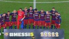 Nou Camp'ta Messi'ye büyük destek
