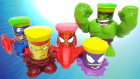 Clay Slime Play Doh Can Heads Super Heroes Spiderman Hulk Iron Man Captain America Sürpriz