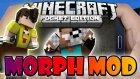 Minecraft PE (Pocket Edition) DÖNÜŞÜM MODU | Minecraft PE MORPH MOD - 0.12.1