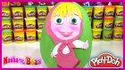 Dev Sürpriz Yumurta Oyun Hamuru Play Doh Maşa ile Koca Ayı EvcilikTV