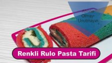 Renkli Rulo Pasta Tarifi / How To Make Rainbow Roll Cake