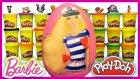 Dev Sürpriz Yumurta Oyun Hamuru Play Doh Denizci Barbie Evciliktv