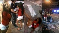 Aşırı Alkollü Kadın Ortalığı Fena Dağıttı