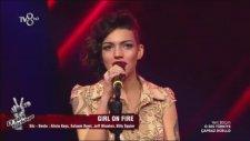 Eda Acar - Girl On Fire (O Ses Türkiye Çapraz Düello) 26 Ocak Salı