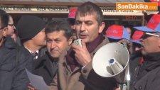 Gaziantep'te Stk?lardan Kıdem Tazminatı Protestosu