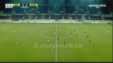 AEL - Acharnaikos Maçında Oyuncuların Oturma Eylemi