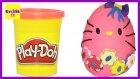 Dev Sürpriz Yumurta Oyun Hamuru Play Doh Hello Kitty  /  Evcilik TV